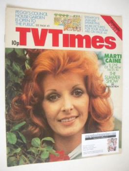 TV Times magazine - Marti Caine cover (2-8 August 1975)