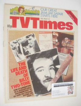 TV Times magazine - The Life And Death Of Billy Two-Tone cover (19-25 July 1975)