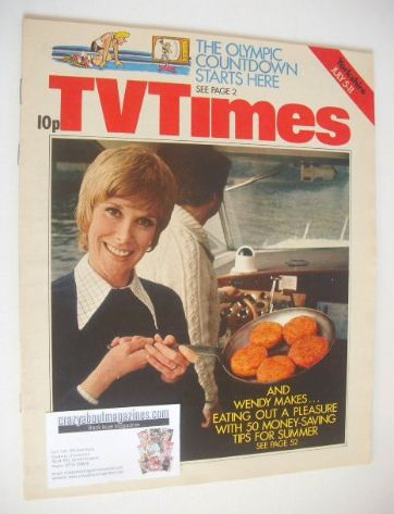 <!--1975-07-05-->TV Times magazine - Wendy Craig cover (5-11 July 1975)
