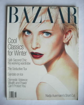 Harper's Bazaar magazine - November 1994 - Nadja Auermann cover (US Edition)