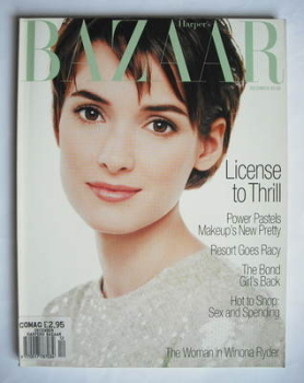 Harper's Bazaar magazine - December 1994 - Winona Ryder cover (US Edition)