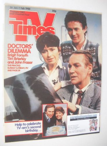 <!--1985-01-26-->TV Times magazine - Doctors' Dilemma cover (26 January - 1