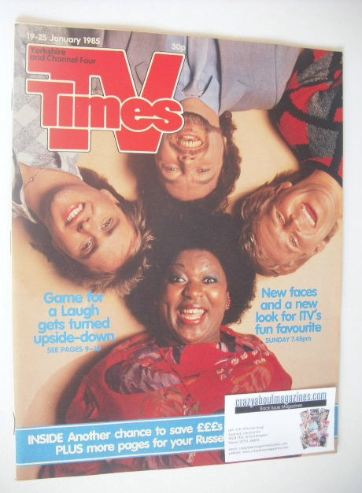 <!--1985-01-19-->TV Times magazine - Game For A Laugh cover (19-25 January