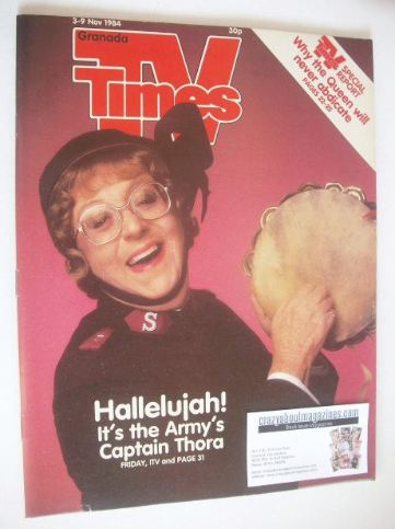 <!--1984-11-03-->TV Times magazine - Thora Hird cover (3-9 November 1984)