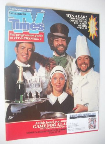 <!--1983-09-17-->TV Times magazine - Game For A Laugh cover (17-23 Septembe