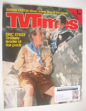 <!--1981-04-25-->TV Times magazine - Eric Sykes cover (25 April - 1 May 198