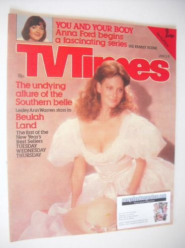 <!--1981-01-03-->TV Times magazine - Lesley Ann Warren cover (3-9 January 1