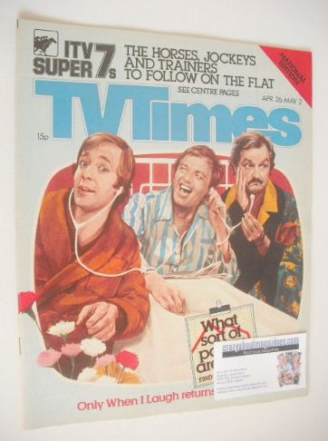 <!--1980-04-26-->TV Times magazine - Only When I Laugh cover (26 April - 2