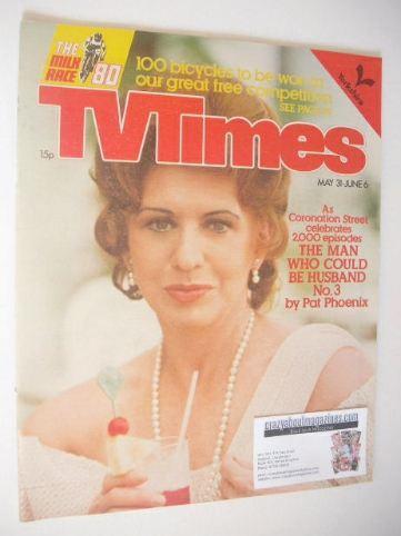 <!--1980-05-31-->TV Times magazine - Pat Phoenix cover (31 May - 6 June 198