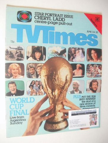 <!--1978-06-24-->TV Times magazine - World Cup Final cover (24-30 June 1978