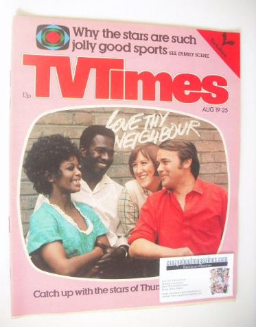 <!--1978-08-19-->TV Times magazine - Love Thy Neighbour cover (19-25 August