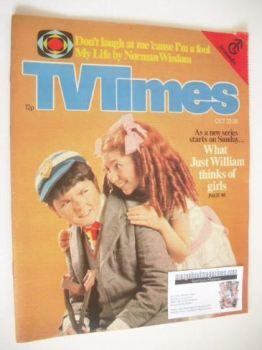 TV Times magazine - Adrian Dannatt and Bonnie Langford cover (22-28 October 1977)