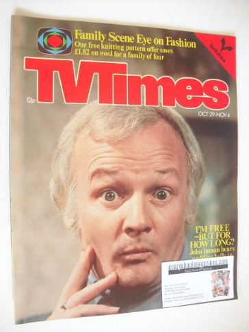 <!--1977-10-29-->TV Times magazine - John Inman cover (29 October - 4 Novem
