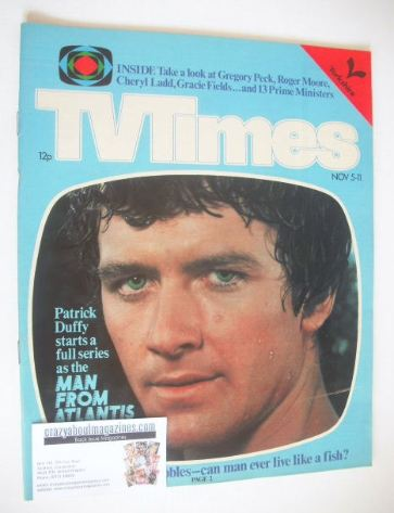 <!--1977-11-05-->TV Times magazine - Patrick Duffy cover (5-11 November 197