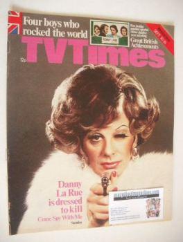 TV Times magazine - Danny La Rue cover (10-16 September 1977)