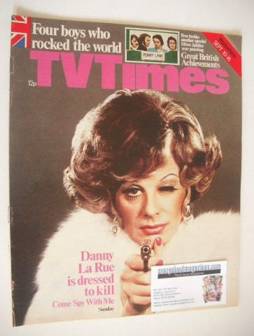 <!--1977-09-10-->TV Times magazine - Danny La Rue cover (10-16 September 19