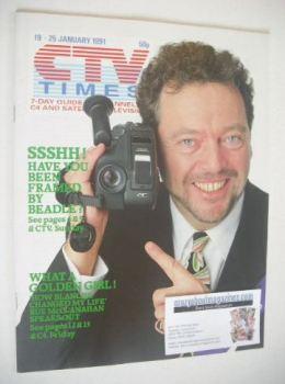 CTV Times magazine - 19-25 January 1991 - Jeremy Beadle cover