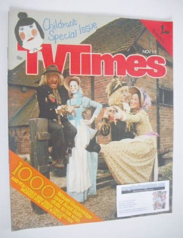<!--1980-11-01-->TV Times magazine - Danny La Rue cover (1-7 November 1980)