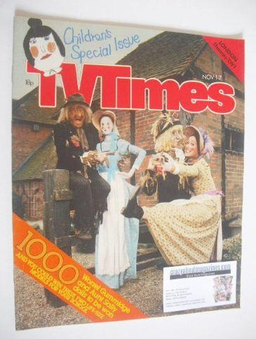 <!--1980-11-01-->TV Times magazine - Worzel Gummidge and Aunt Sally cover (