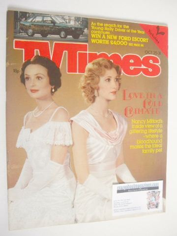 <!--1980-10-25-->TV Times magazine - Lucy Gutteridge and Rosalyn Landor cov