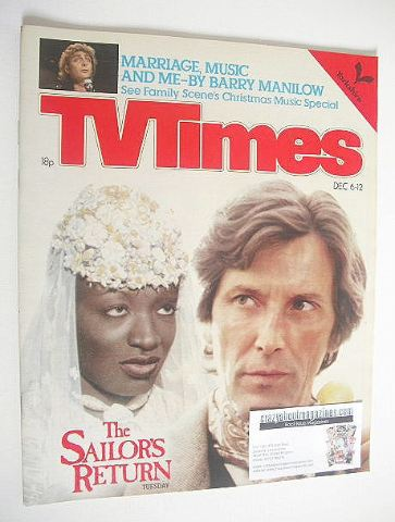 <!--1980-12-06-->TV Times magazine - The Sailor's Return cover (6-12 Decemb