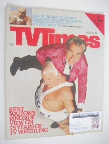 <!--1980-11-22-->TV Times magazine - Wrestling cover (22-28 November 1980)