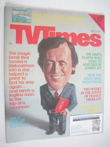 <!--1980-10-11-->TV Times magazine - Eamonn Andrews cover (11-17 October 19