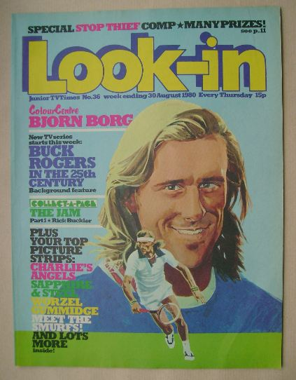 <!--1980-08-30-->Look In magazine - Bjorn Borg cover (30 August 1980)