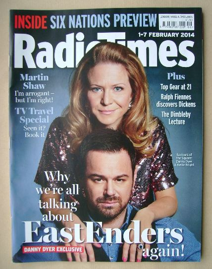 <!--2014-02-01-->Radio Times magazine - Kellie Bright and Danny Dyer cover