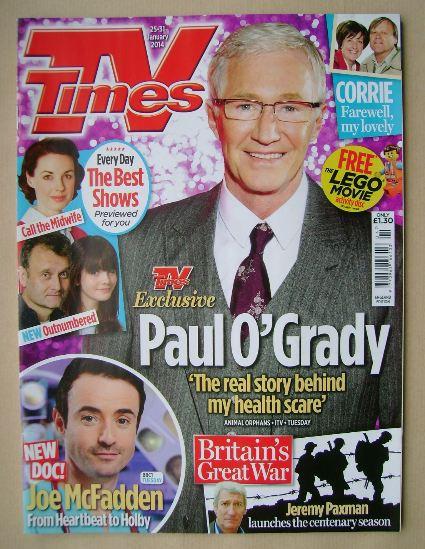 <!--2014-01-25-->TV Times magazine - Paul O'Grady cover (25-31 January 2014