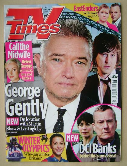 <!--2014-02-01-->TV Times magazine - Martin Shaw cover (1-7 February 2014)