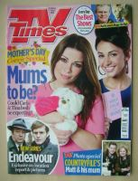 <!--2014-03-29-->TV Times magazine - Alison King and Michelle Keegan cover (29 March - 4 April 2014)