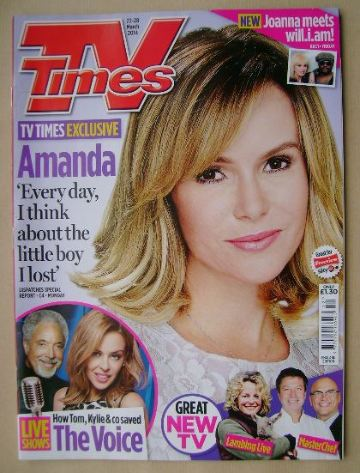 <!--2014-03-22-->TV Times magazine - Amanda Holden cover (22-28 March 2014)