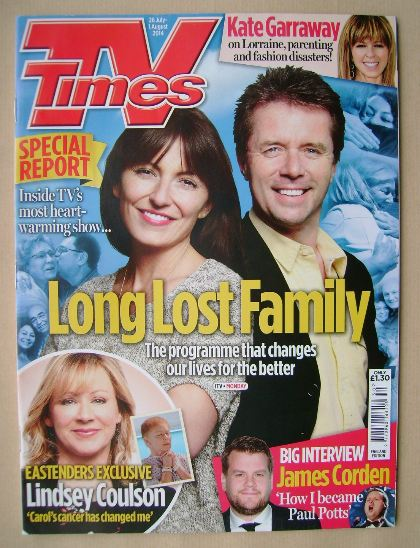 <!--2014-07-26-->TV Times magazine - Davina McCall and Nicky Campbell cover