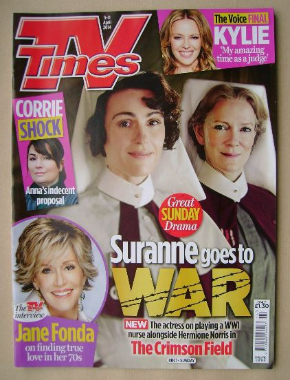 <!--2014-04-05-->TV Times magazine - Suranne Jones and Hermione Norris cove