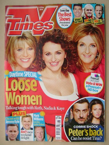 <!--2014-05-03-->TV Times magazine - Ruth Langsford, Nadia Sawalha and Kaye