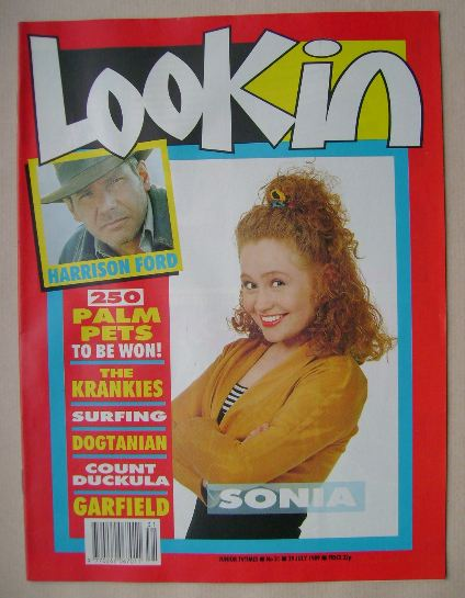 <!--1989-07-29-->Look In magazine - Sonia cover (29 July 1989)