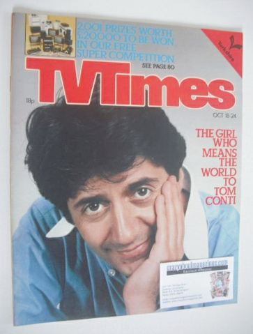 <!--1980-10-18-->TV Times magazine - Tom Conti cover (18-24 October 1980)