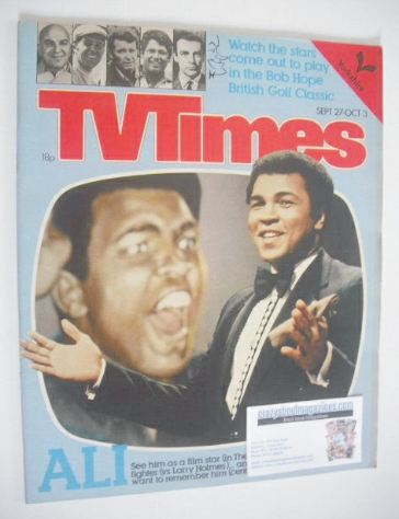 <!--1980-09-27-->TV Times magazine - Muhammad Ali cover (27 September - 3 O