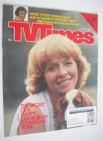 <!--1981-01-31-->TV Times magazine - Susannah York cover (31 January - 6 Fe