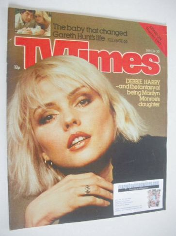 <!--1981-01-24-->TV Times magazine - Debbie Harry cover (24-30 January 1981