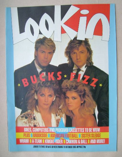 <!--1985-10-19-->Look In magazine - Bucks Fizz cover (19 October 1985)