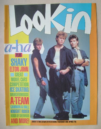 <!--1985-11-02-->Look In magazine - A-Ha cover (2 November 1985)