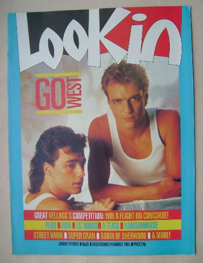 <!--1985-08-24-->Look In magazine - Go West cover (24 August 1985)