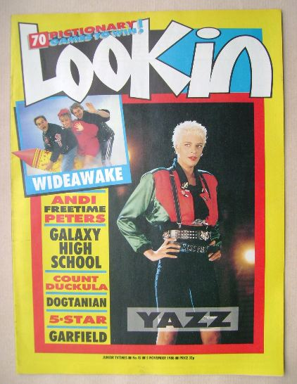 <!--1988-11-05-->Look In magazine - Yazz cover (5 November 1988)