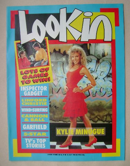 <!--1988-07-16-->Look In magazine - Kylie Minogue cover (16 July 1988)
