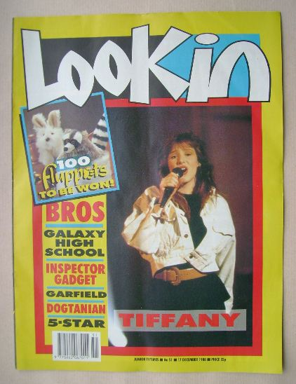 <!--1988-12-17-->Look In magazine - Tiffany cover (17 December 1988)