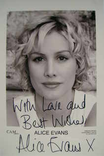 Alice Evans autograph (hand-signed photograph)