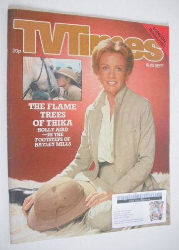 <!--1981-09-19-->TV Times magazine - Hayley Mills cover (19-25 September 19