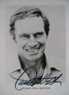 Charlton Heston autograph (hand-signed photograph)